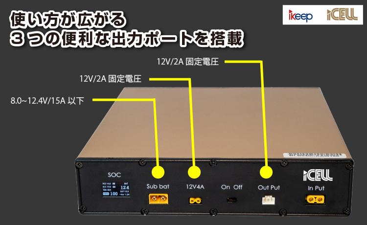 iCELL 新型・超大容量ドラレコ補助バッテリー