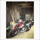田舎のノスタルジックな雰囲気の中に、未来からやってきたバイクが止まってる感じ?
