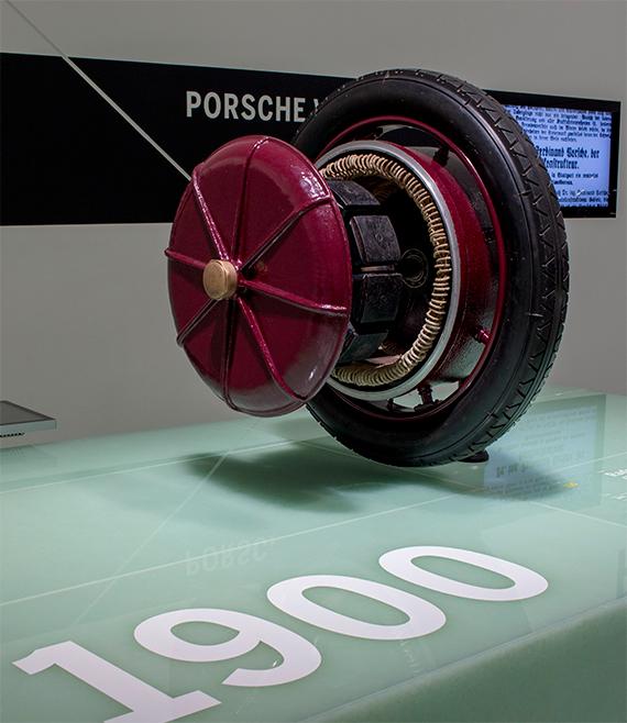 Radnabe Lohner-Porsche Elektromobil ポルシェ インホイールモータ