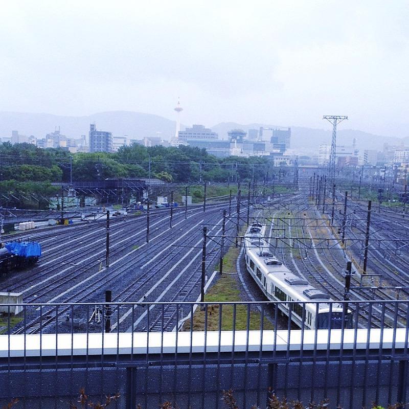 京都鉄道博物館 3Fスカイテラス 京都タワー