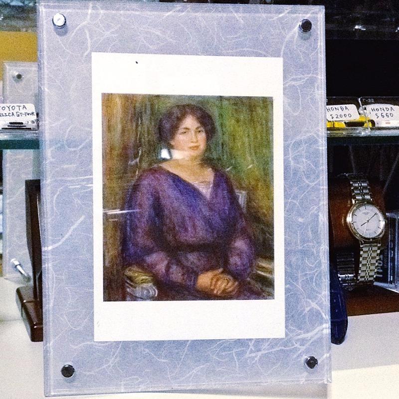 鞍ヶ池アートサロン ヨーロッパ近代絵画のあゆみ ルノワール『ルイ・プラ婦人の肖像』ポストカード