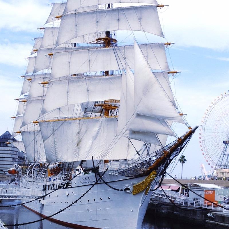 横浜みなとみらい 航海練習船「日本丸」