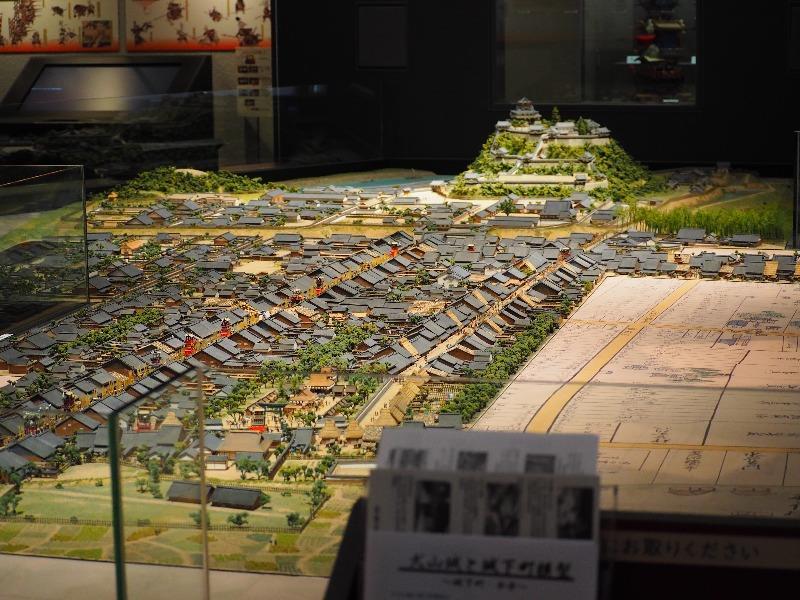 城とまちミュージアム(犬山市文化史料館)エントランス 犬山城下町 模型