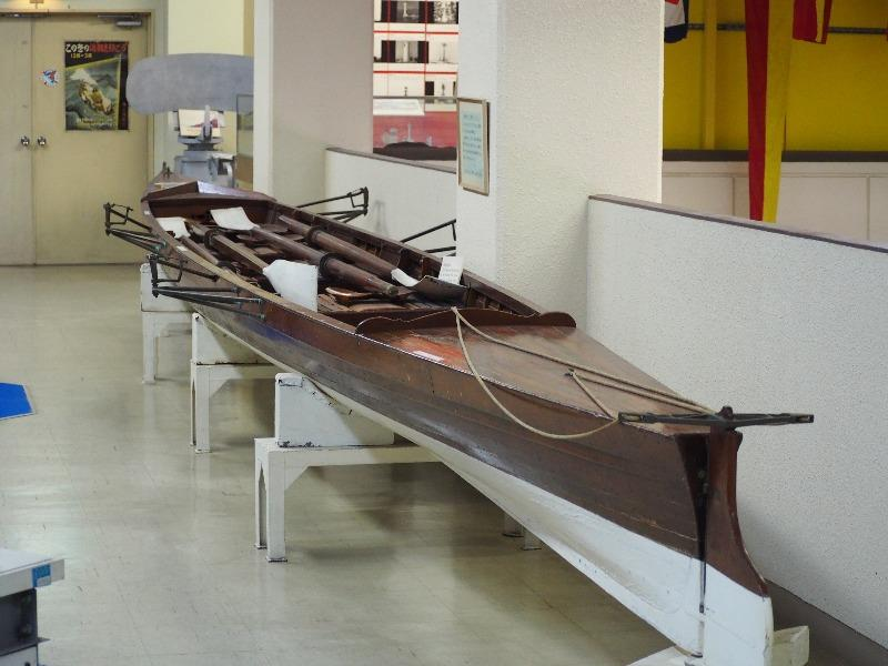 海上保安資料館 昭和天皇 ご愛用のボート 4人乗りの競走艇