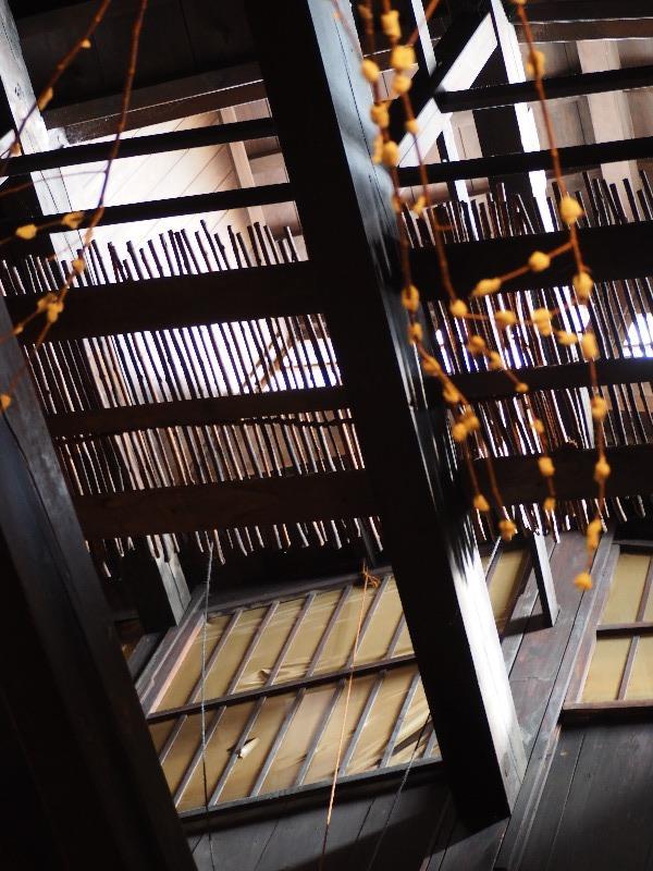 高山 古い町並み さんまち通り 飛騨民俗考古館 つり天井&忍(しのび)窓