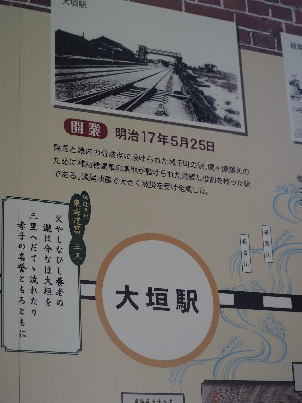 長浜 長浜鉄道スクエア 北陸線電化記念館 東海道線 駅舎の写真 大垣駅