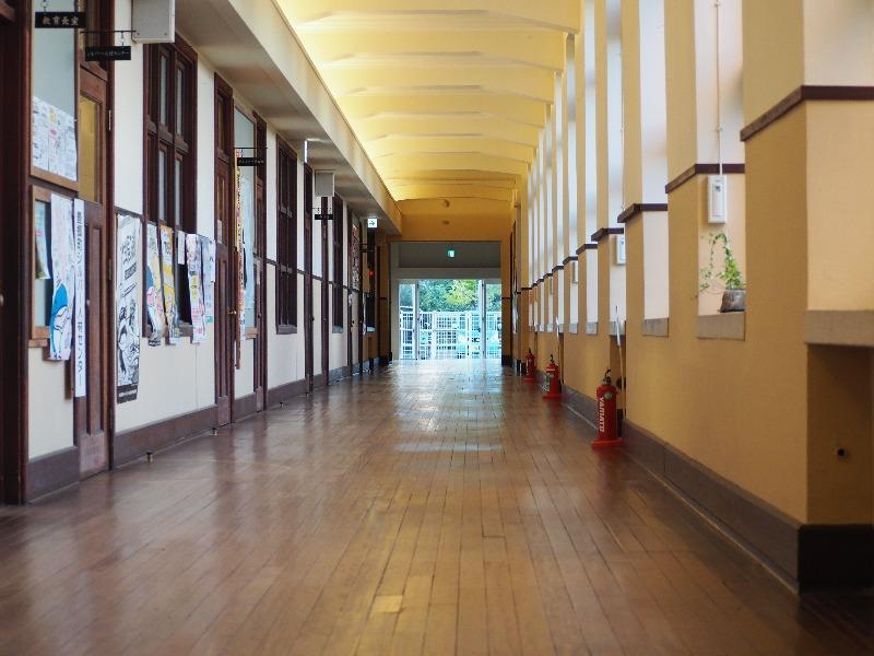 豊郷小学校  旧校舎群 廊下