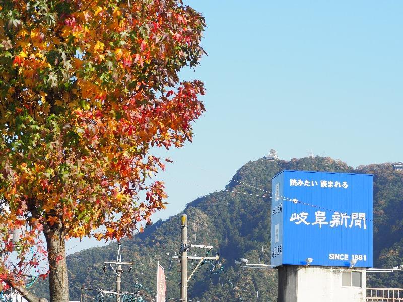金華橋通り……から金華山