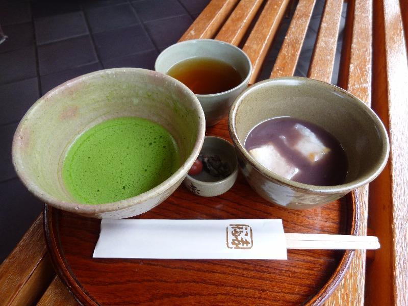 赤福 鳥羽支店 赤福ぜんざい・抹茶セット