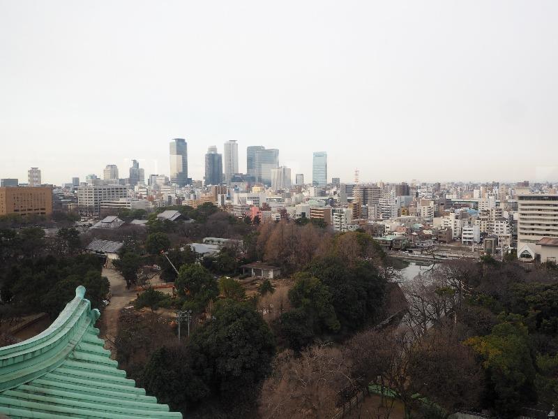 名古屋城 天守 7階 展望室から名古屋駅方面