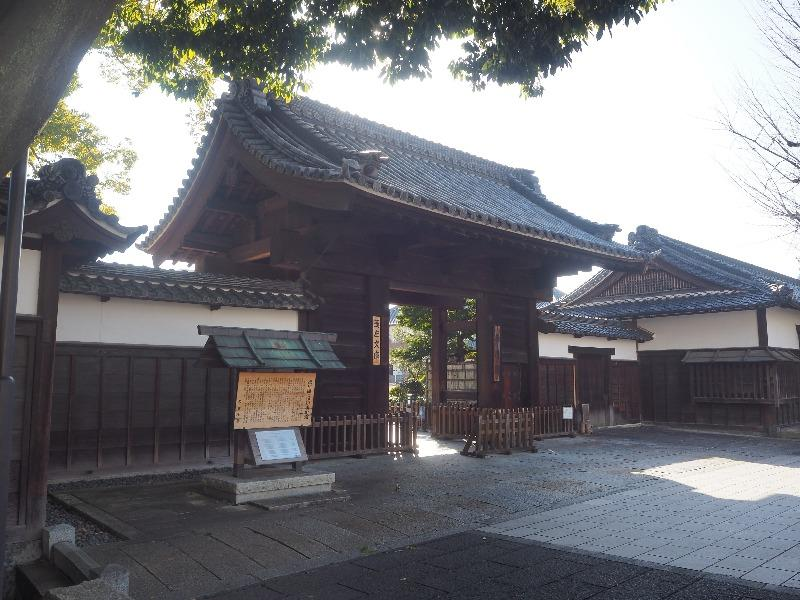 徳川園 徳川園黒門(とくがわえんくろもん)、脇長屋(わきながや)登録有形文化財