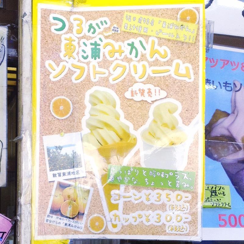 日本海さかな街 つるが 東浦みかん ソフトクリーム