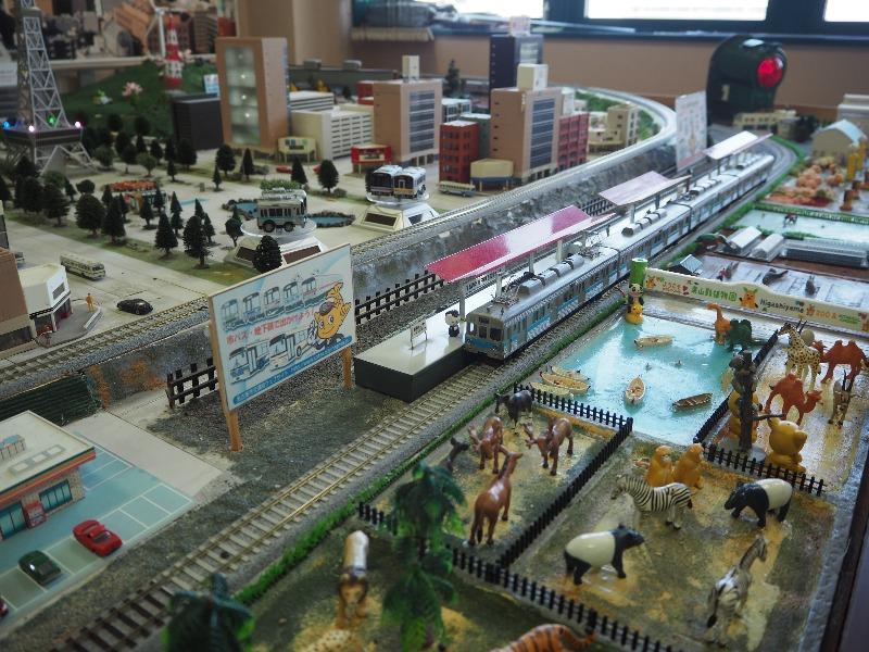 市営交通資料センター HOゲージ ジオラマ