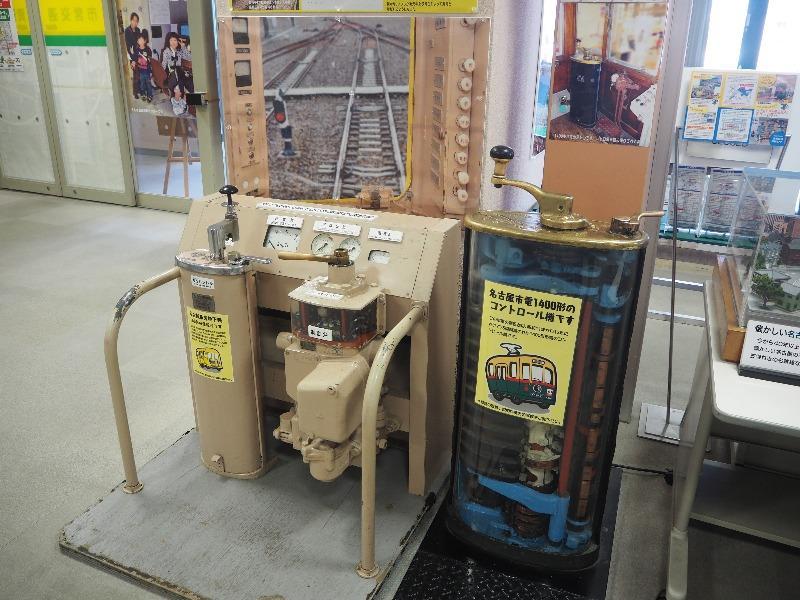 市営交通資料センター 市営地下鉄100形 運転台、市電1400形 コントロール機