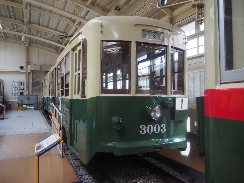 レトロでんしゃ館 市電 3000型(3003号車)