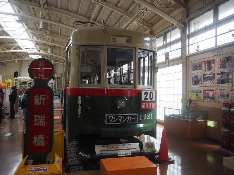 レトロでんしゃ館 市電 1400型(1421号車)