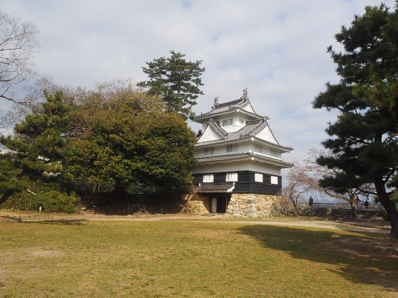 吉田城鉄櫓とイスノキ