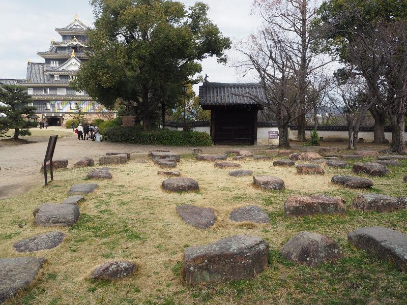 岡山城 六十一雁木上門