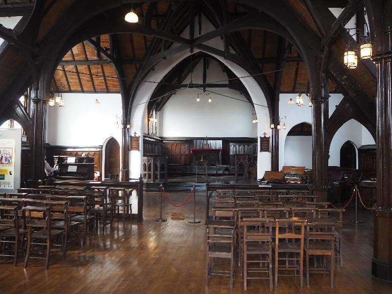 明治村 聖ヨハネ教会堂 会堂内部