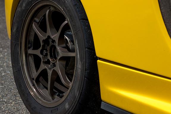 Honda Beat ホンダ・ビート PP1 RSマッハ RSmach 黄姫 ADVAN アドバン A050 Sタイヤ RAYS レイズ CE28N