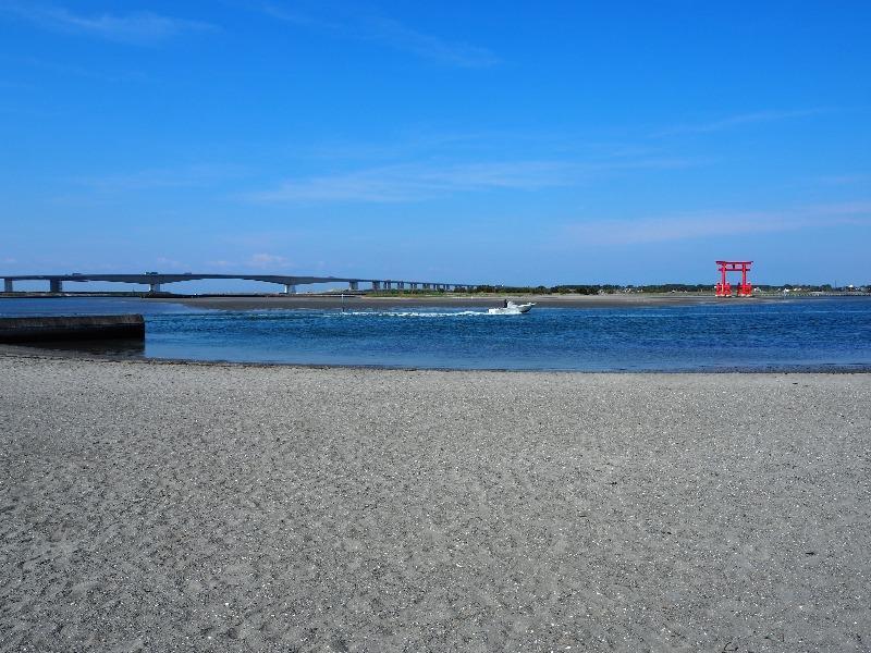 弁天島海浜公園 浜名湖大橋、大鳥居