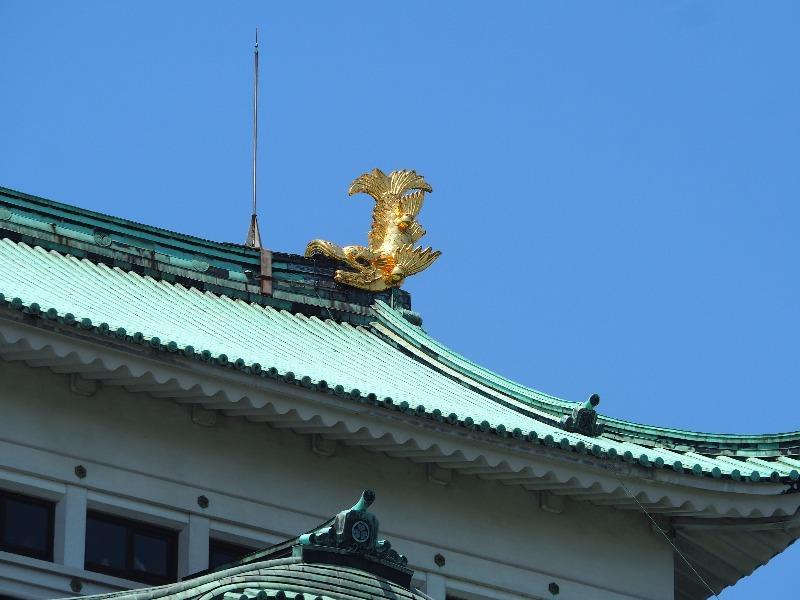 名古屋城 天守 金のしゃちほこ・雄