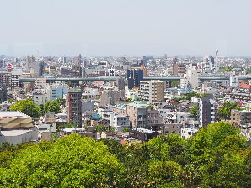 名古屋城 天守 7F 展望室 岐阜・関ヶ原方面