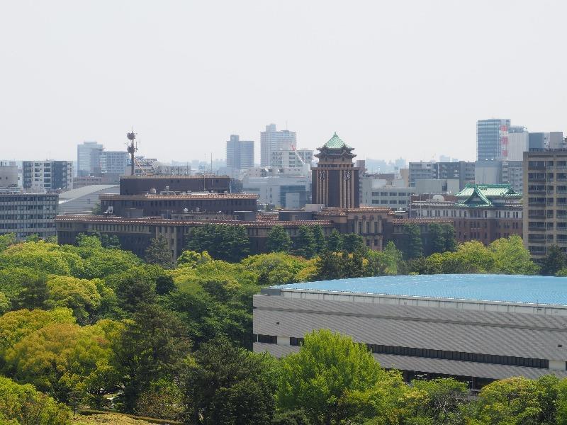名古屋城 天守 7F 展望室 名古屋市役所・愛知県庁方面