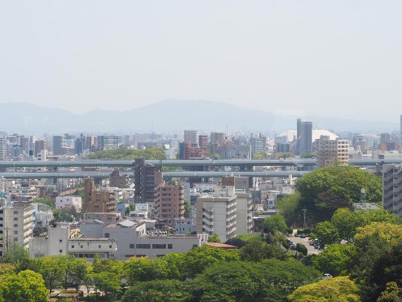 名古屋城 天守 7F 展望室 徳川園方面