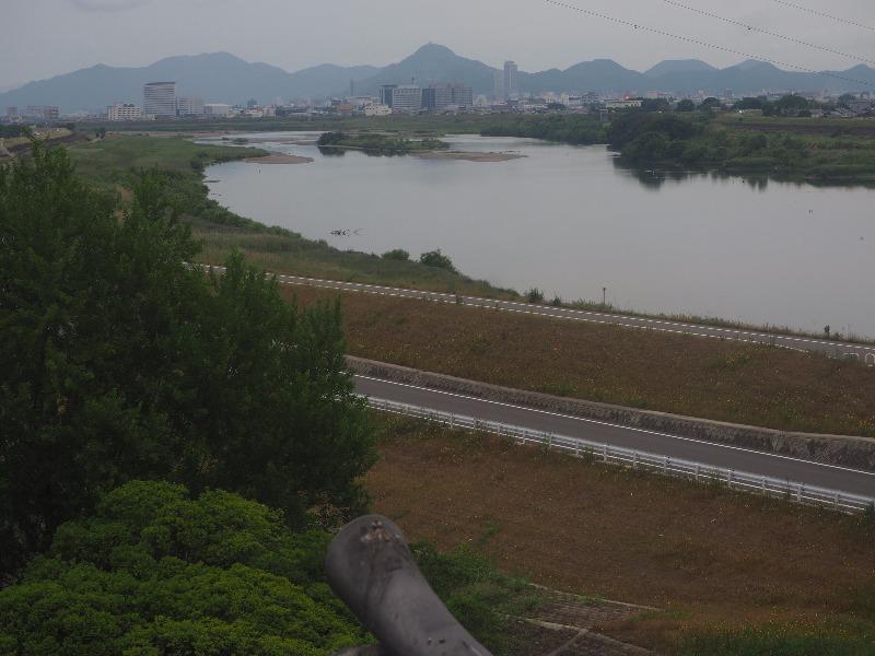 墨俣一夜城 展望台から岐阜城