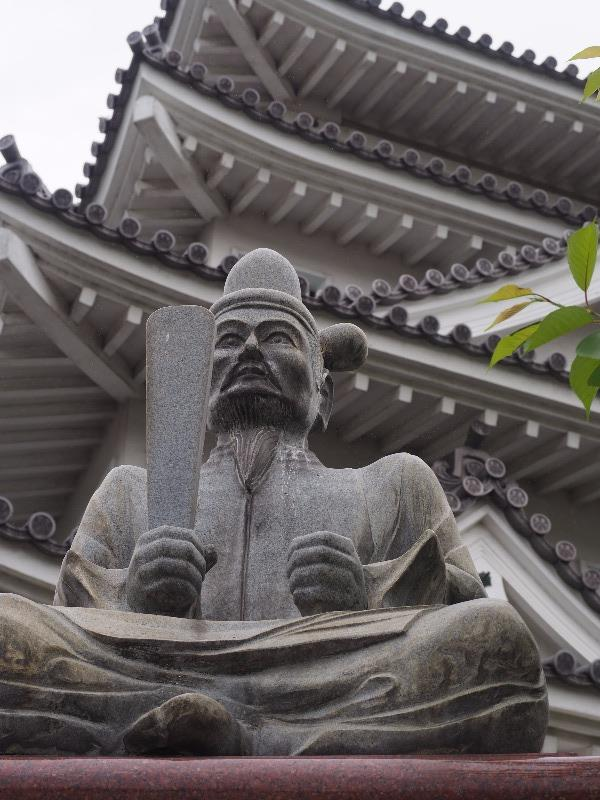 墨俣一夜城 木下藤吉郎像