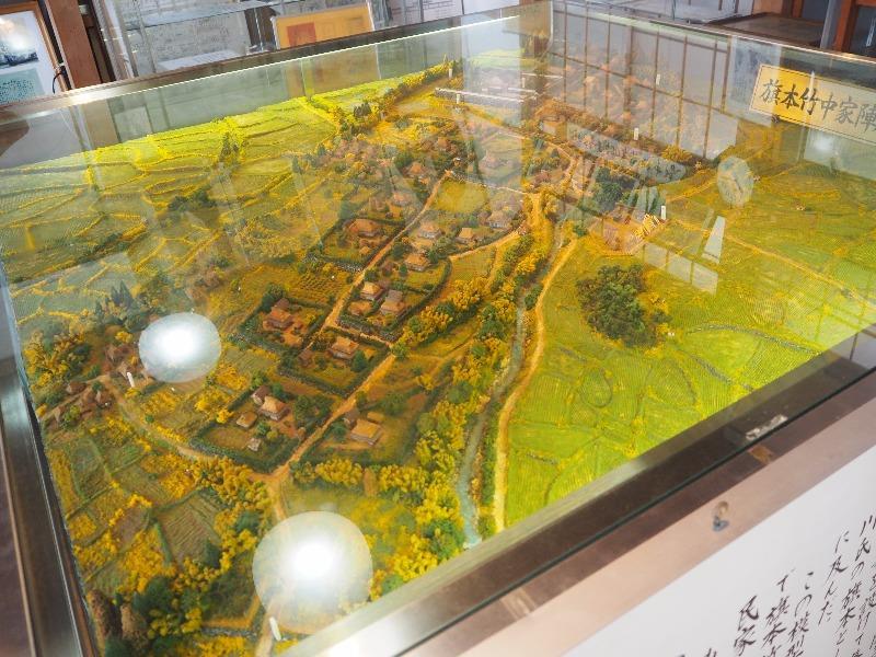 菁莪記念館 旗本竹中家陣屋跡付近模型