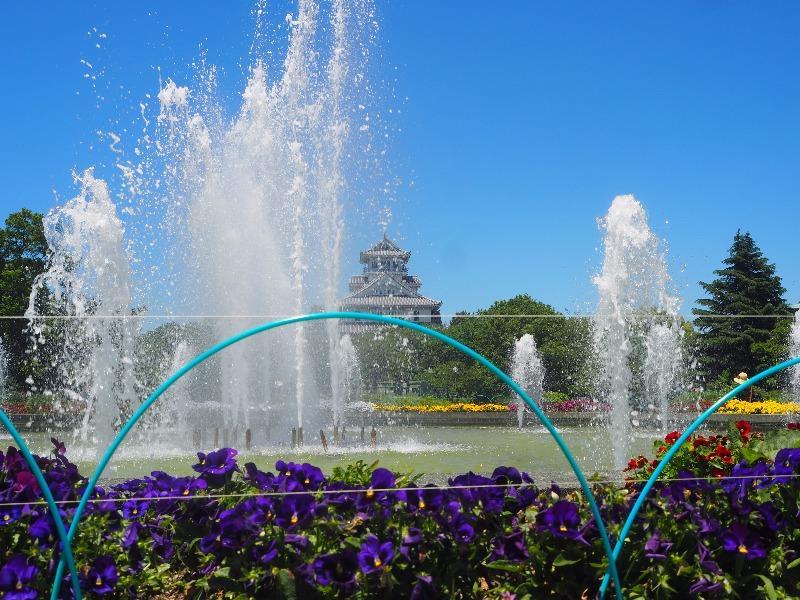 豊公園 噴水広場……から長浜城歴史博物館