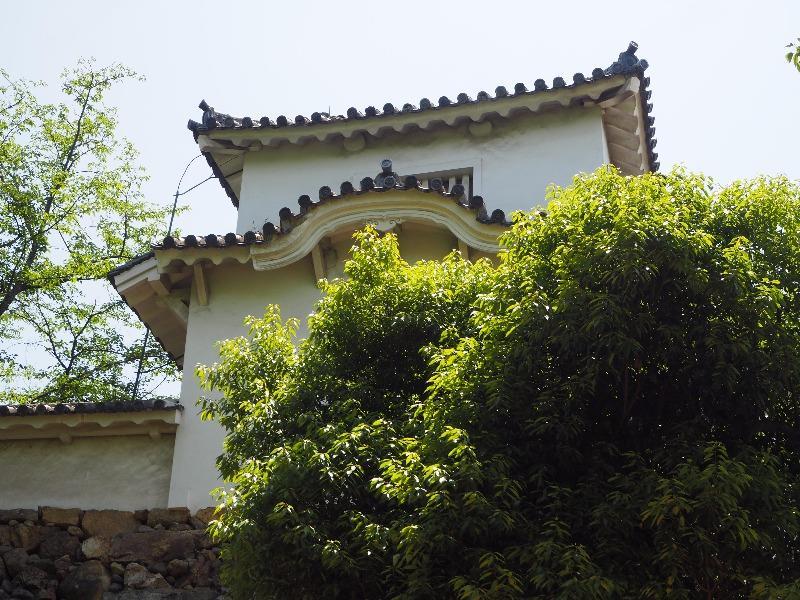 姫路城 十字紋の鬼瓦