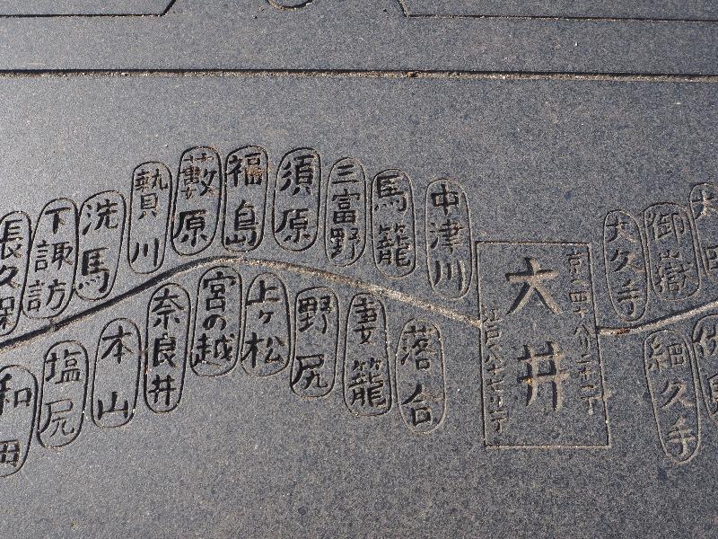中山道 大井宿 大井橋