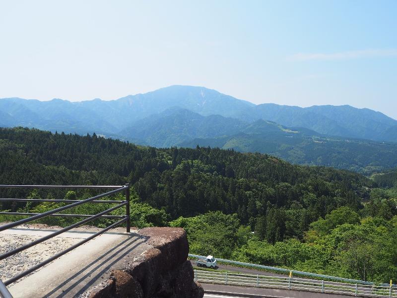 中山道 馬籠宿 見晴台 恵那山(2)