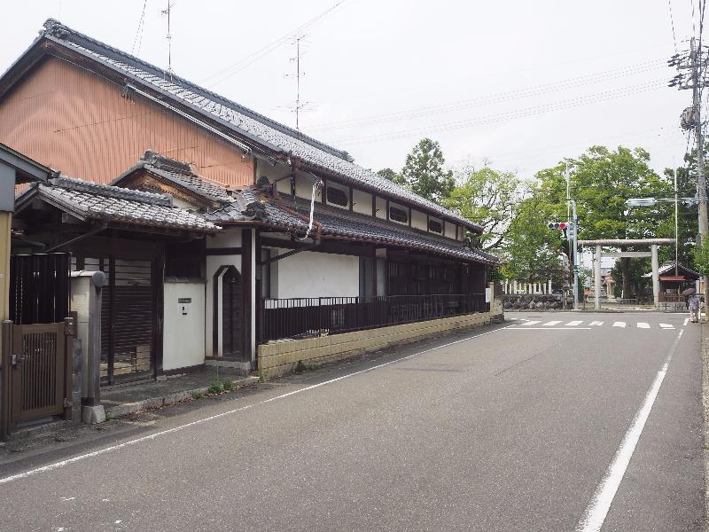 美江寺宿 枡形「美江寺」交差点 和田家(旧・庄屋)