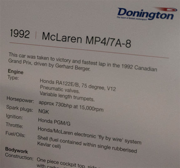 McLaren Honda MP4/7A-8 1992 マクラーレン・ホンダ