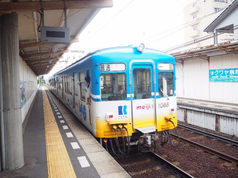 琴電 瓦町駅 1080形電車(一宮行)