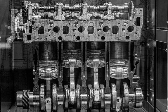 いすゞプラザ ISUZU 博物館 ミュージアム エンジン カットモデル
