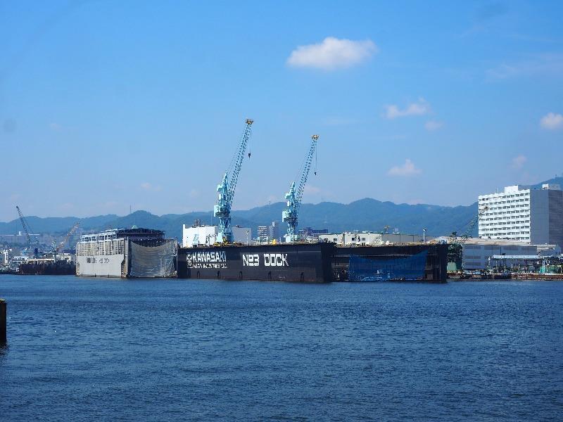 神戸ベイクルーズ ロイヤルプリンセス号 川崎重工 日本で一番大きな浮きドック