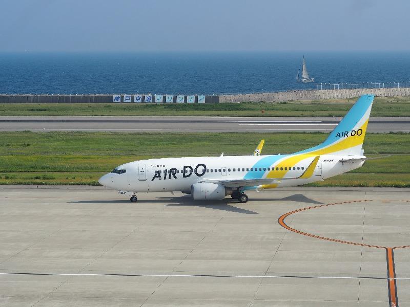 神戸空港(マリンエア)展望デッキ スカイマーク BC594便 OKA→UKB(沖縄本島→神戸市)