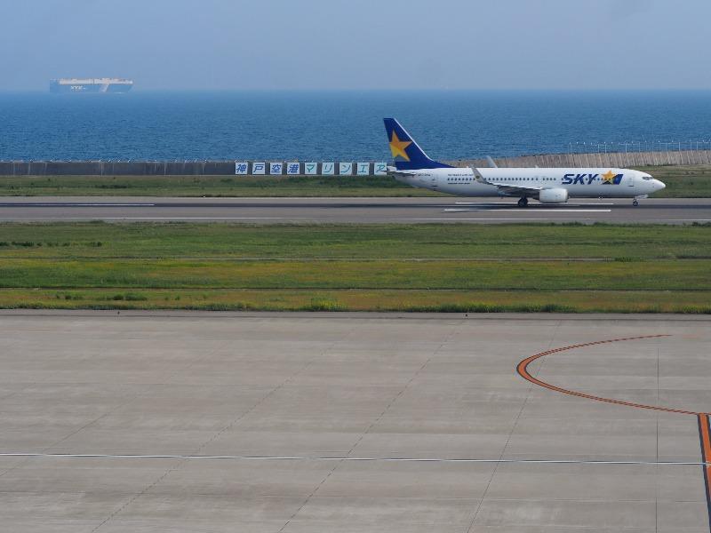 神戸空港(マリンエア)展望デッキ スカイマーク BC110便 UKB→HND(神戸市→東京都)