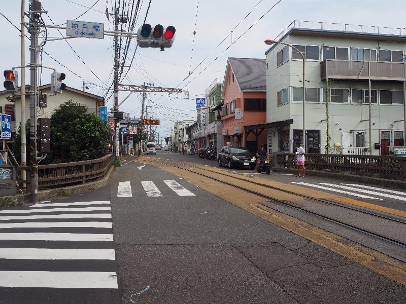 「神戸橋」交差点 江ノ島電鉄 腰越駅