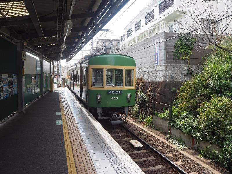 江ノ島電鉄 七里ヶ浜駅 300形電車