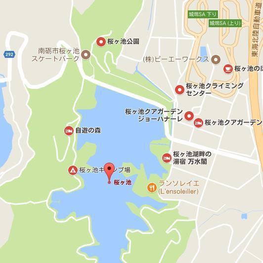 GoogleMap 桜ヶ池