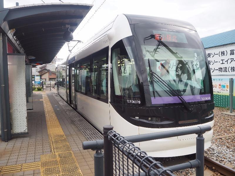 富山ライトレール 岩瀬浜駅 TLR0600形電車(TLR0607編成「すーぴー」くん)