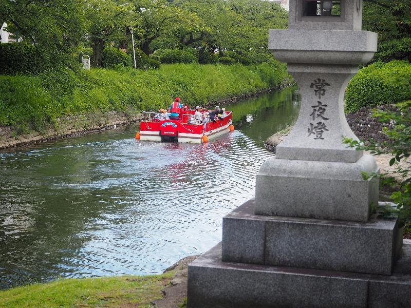 富山城址公園 松川遊覧船
