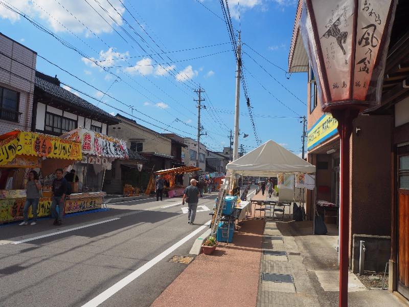 越中八尾駅 駅前通り おわら風の盆(2)