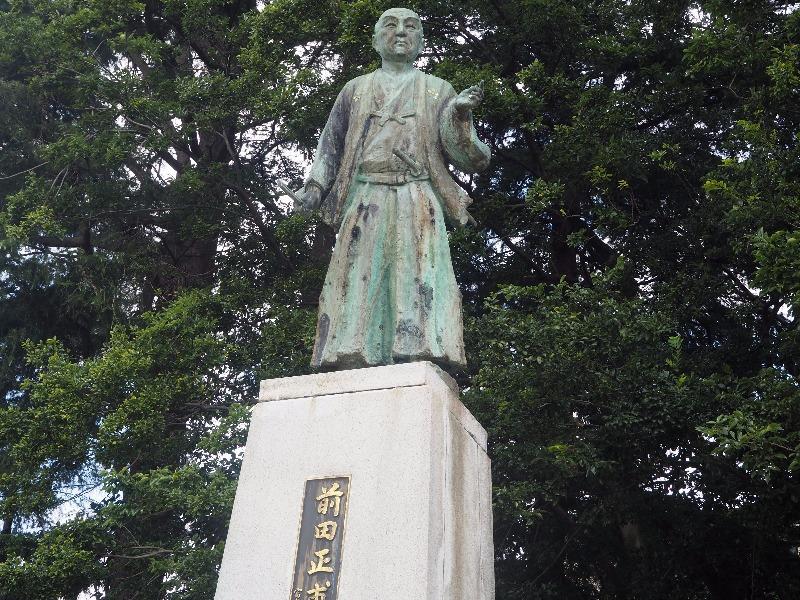 富山城址公園 前田正甫像